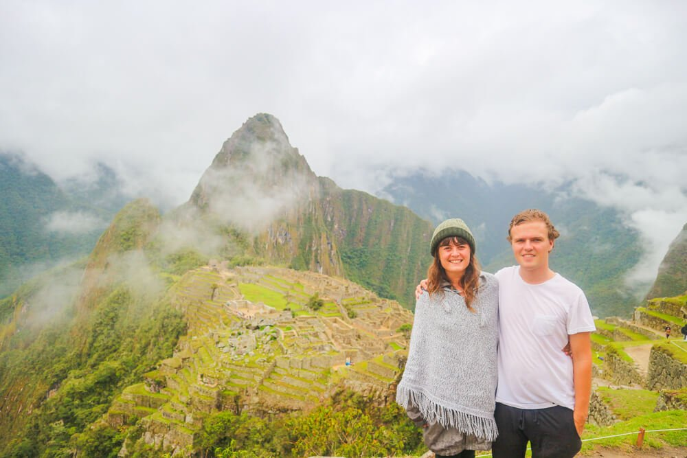 About Us - Sam and Natalia at Machu Picchu
