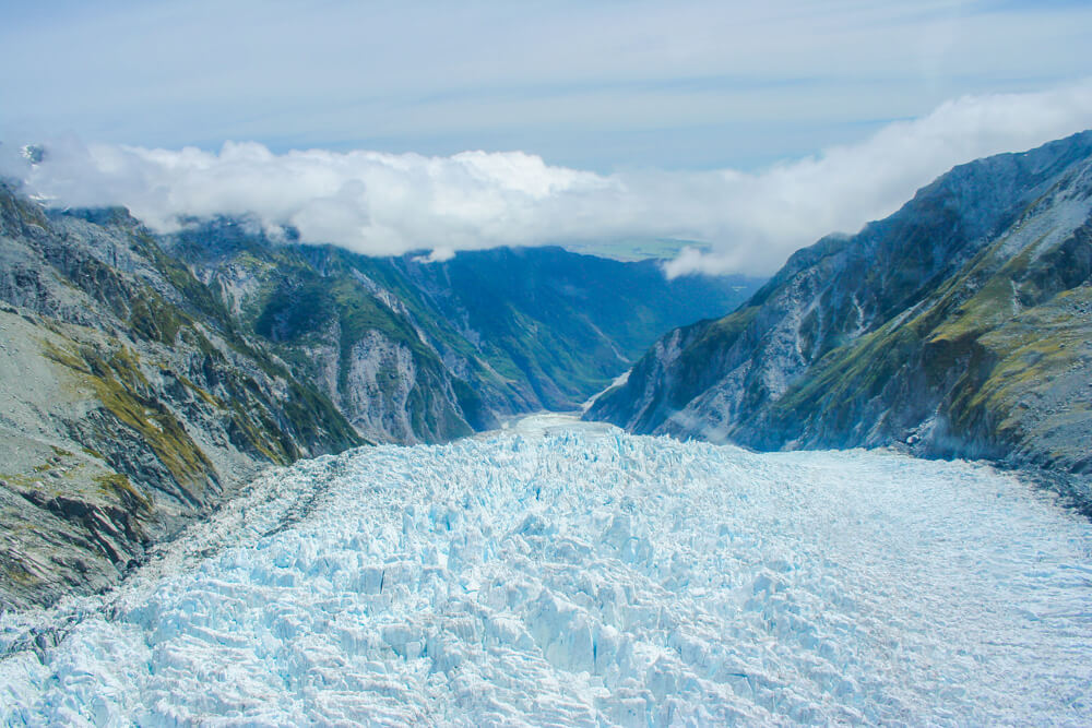 Glacier in Franz Josef - one of the must see places in New Zealand