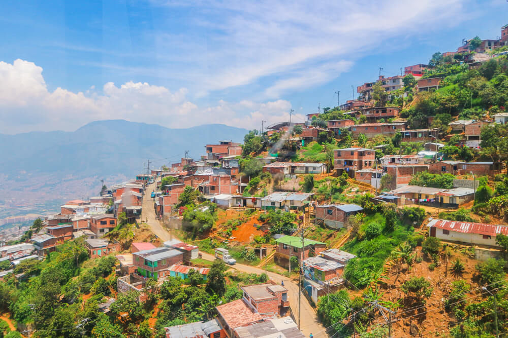tips for bus travel South America, view of Medellin