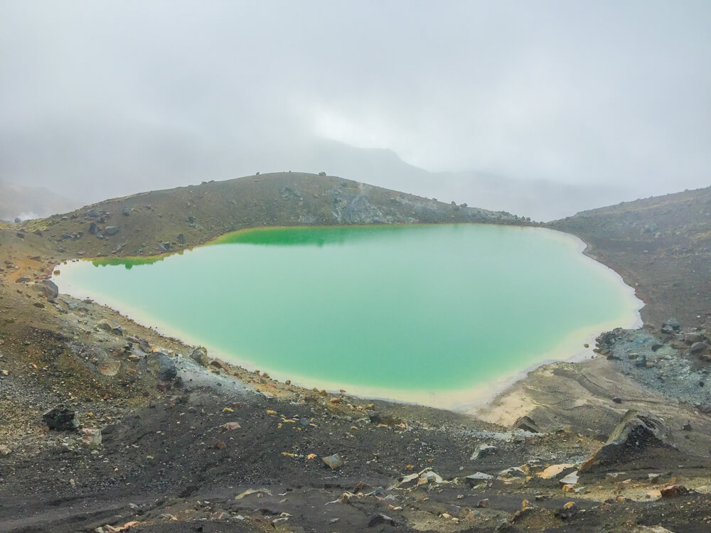 One of the emerald lakes on the Tongariro Alpine Crossing near Taupo - one of the must see places in New Zealand
