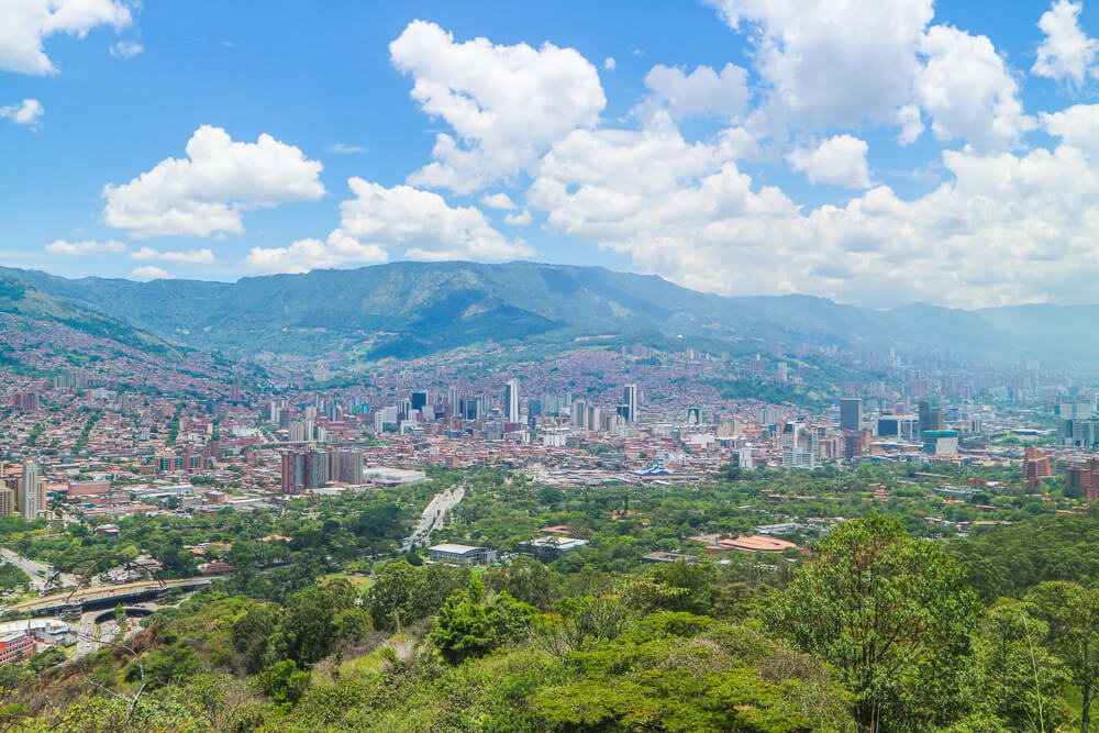 View of Medellin from Cerro El Volador - one of the lesser known points of interest in Medellin