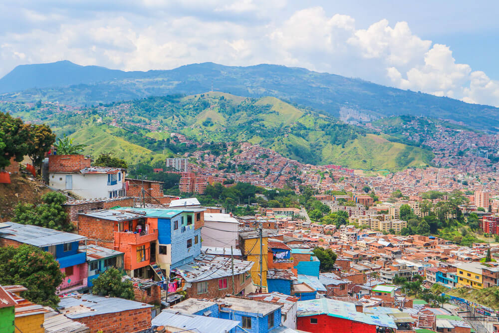 View of Comuna 13 - one of the points of interest in Medellin