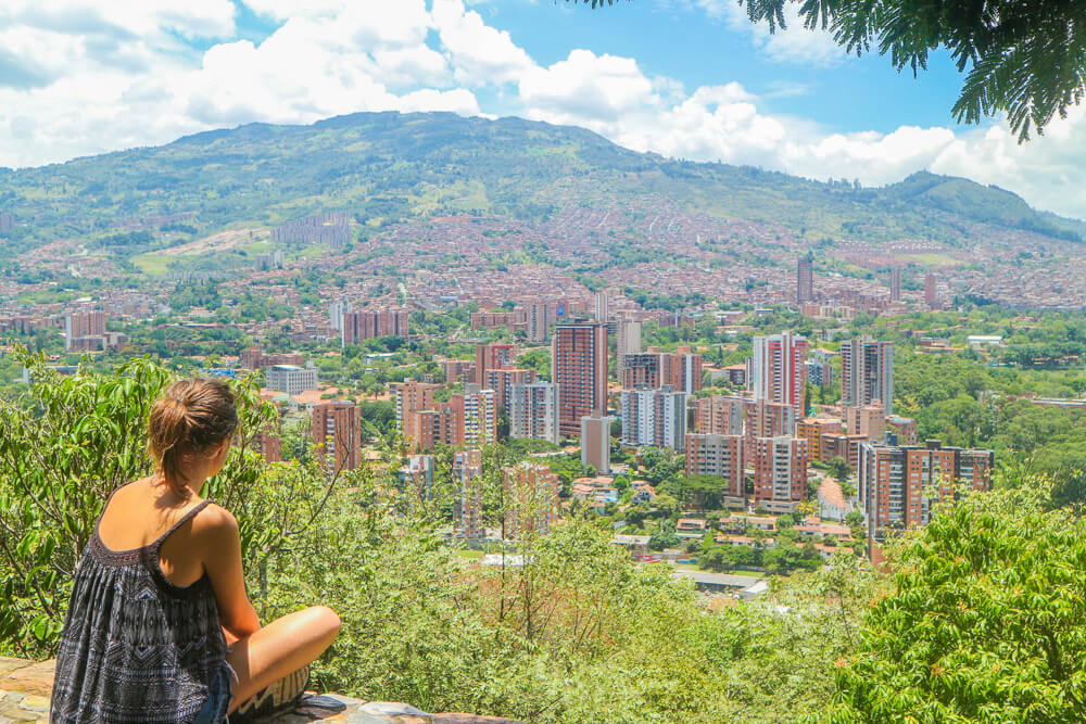 View over Medellin at one of the city's points of interest - Cerro El Volador