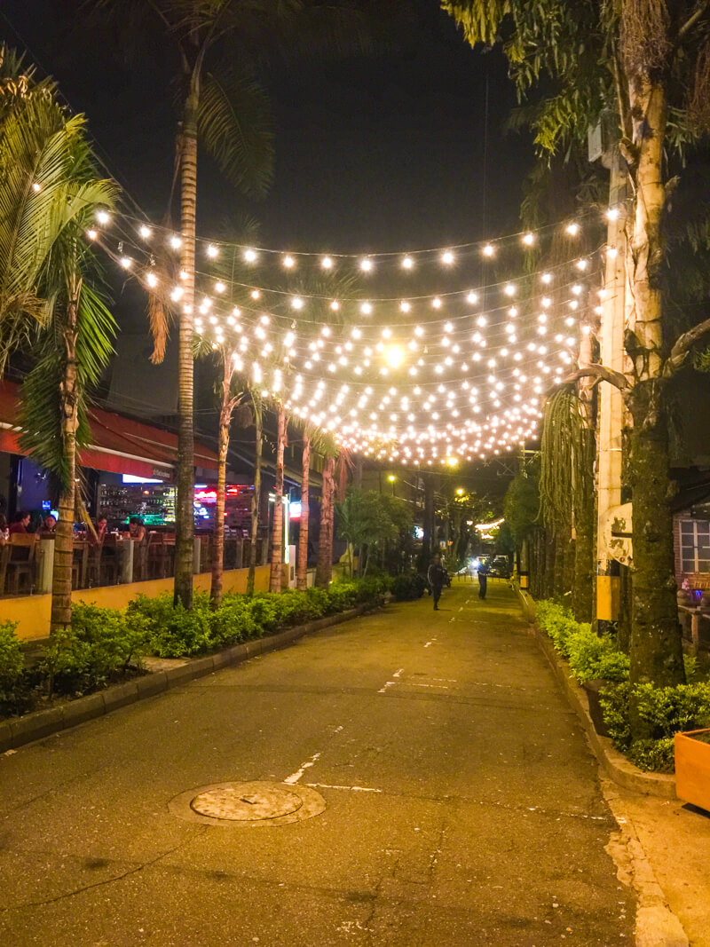 Parque Lleras - vibrant nightlife make this one of the points of interest in Medellin