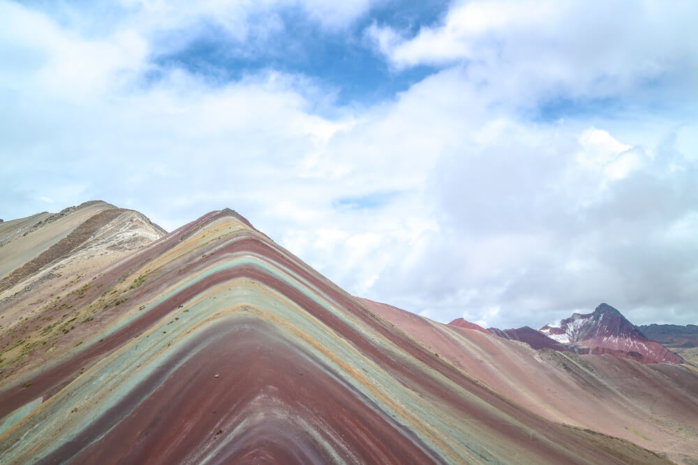 Rainbow Mountain, not in the travel guides so one of our tips for travelling South America