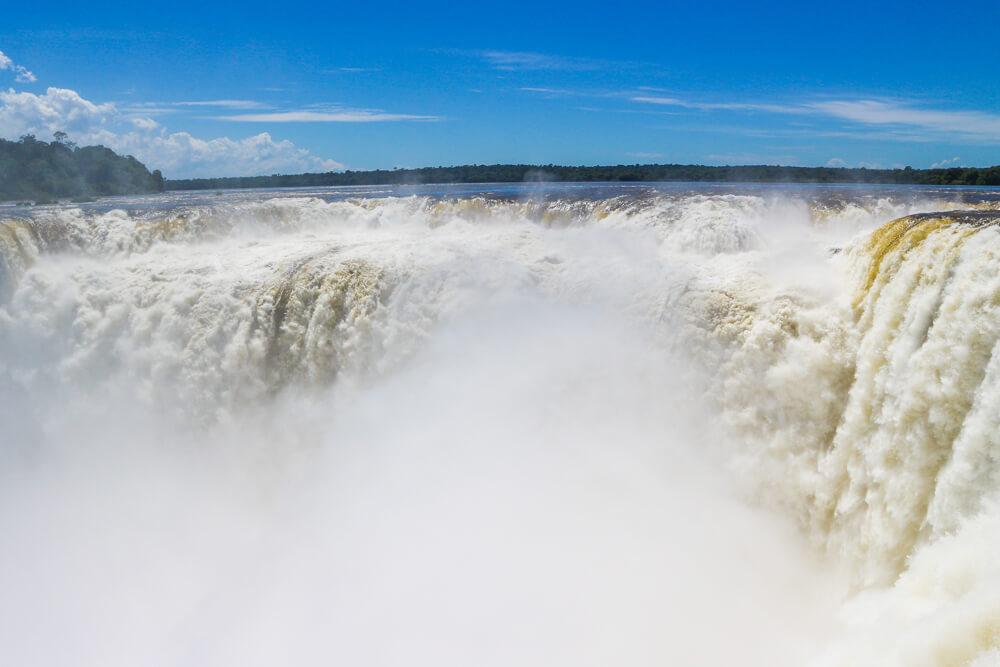 The powerful Garganta Del Diablo in Iguazu falls Argentina