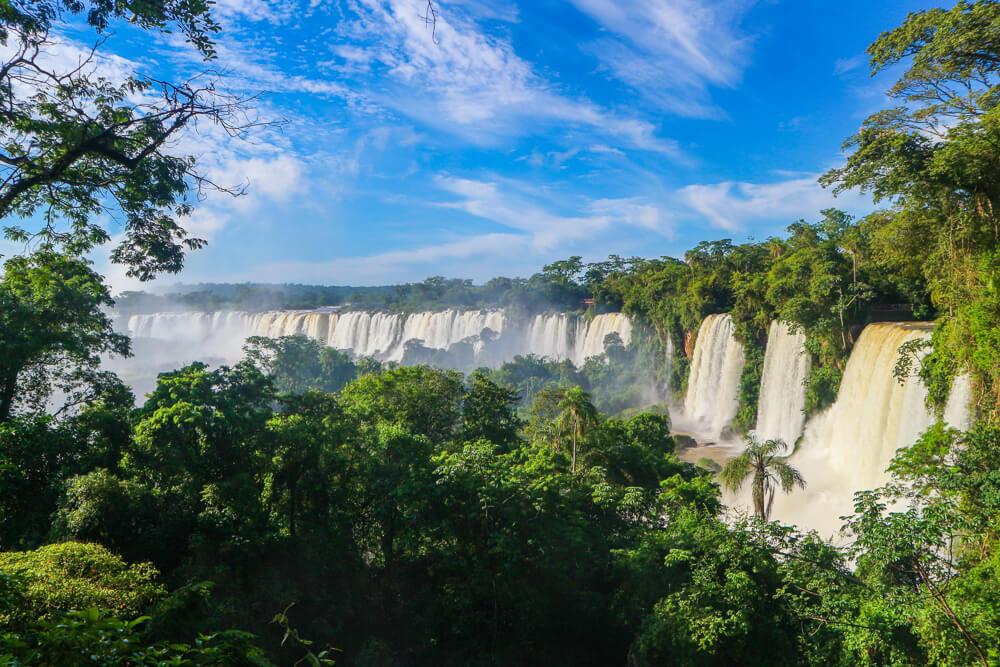 Panoramic view of Iguazu falls Argentina