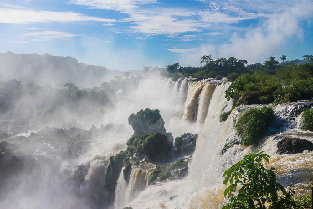 View from Circuito Superior in Iguazu falls Argentina