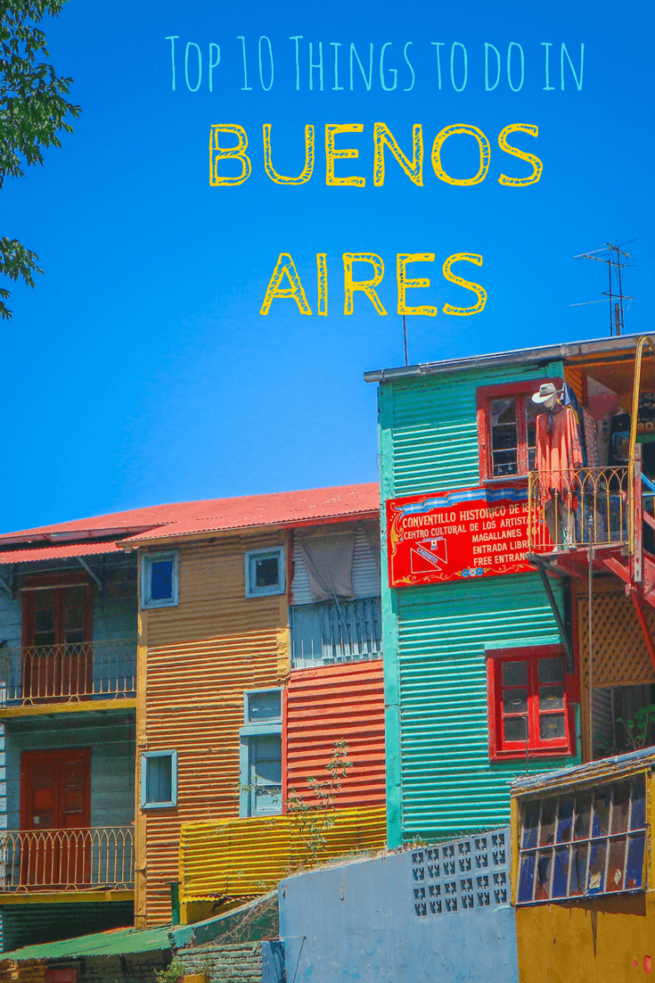 Buenos Aires is one of the top travel destinations in South America. The capital city of Argentina offers lots of things to do, culture and grand architecture. There's no shortage of places to visit – with the San Telmo market, Caminito in La Boca, Casa Rosada, Teatro Colon, Puerto Madero, Palermo and the famous Recoleta cemetery all great tips for your itinerary. There is so much to do in any season from winter to summer and many options for great food! #southamerica #argentina #buenosaires