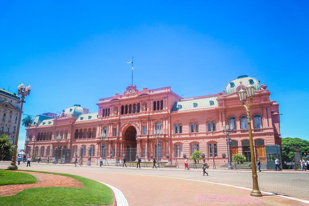Landmark Casa Rosada, a Buenos Aires sight