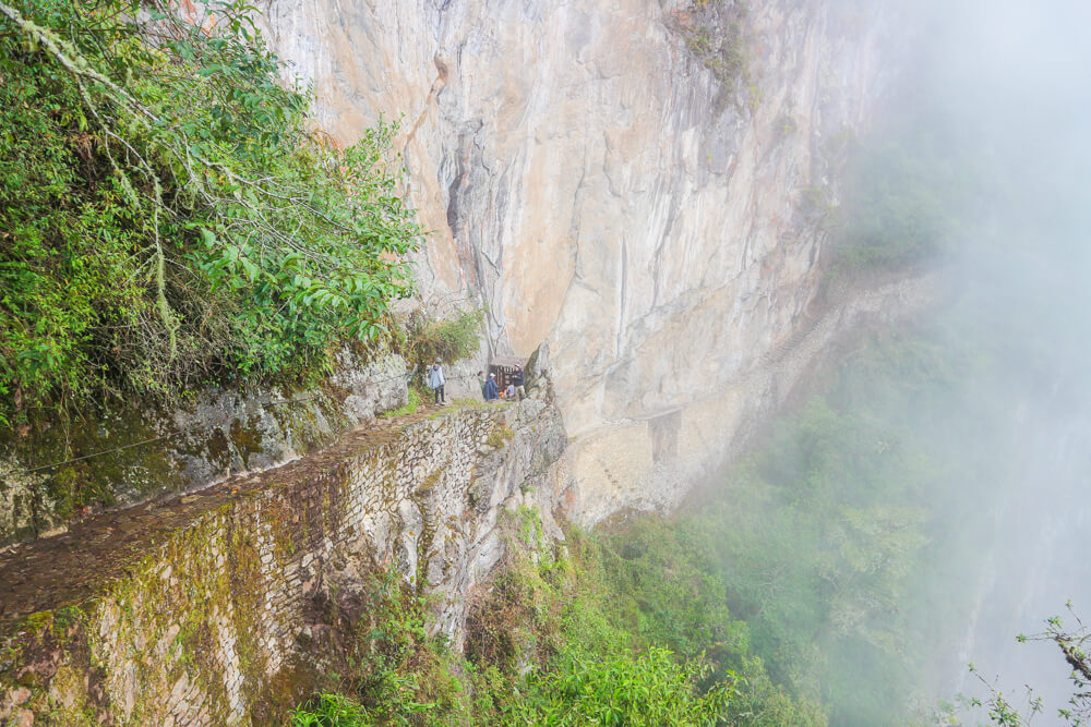Watch out for steep drops when visiting Machu Picchu