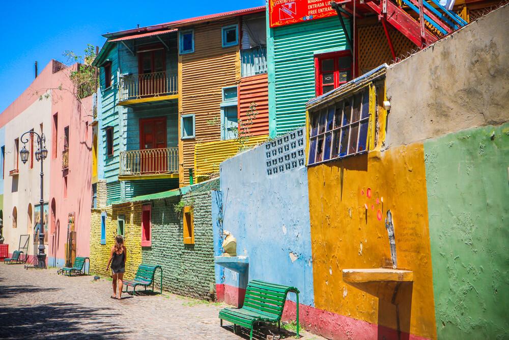 Famous Buenos Aires sight La Boca