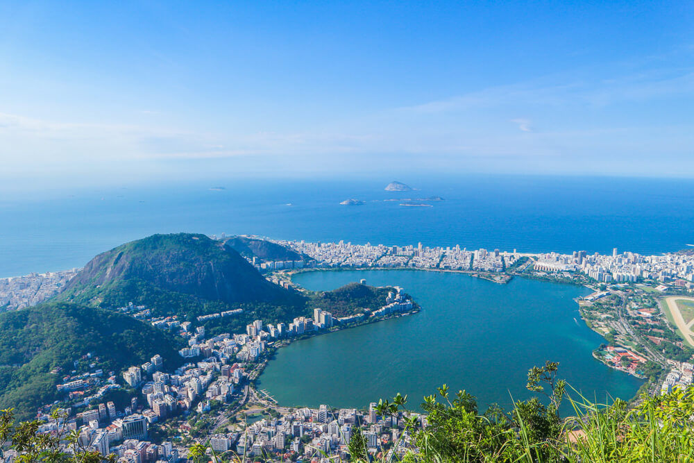 View from Corcovado of the Lagoa - one of Rio's hidden gems