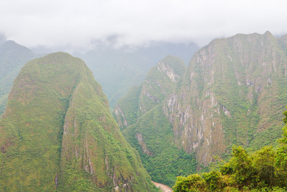 Machu Picchu has stunning landscape all around due to the high altitude