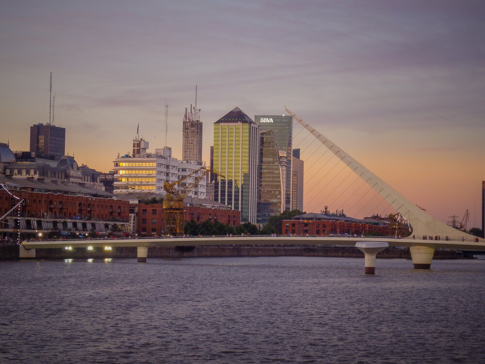 Sunset at Puerto Madero, Buenos Aires sights