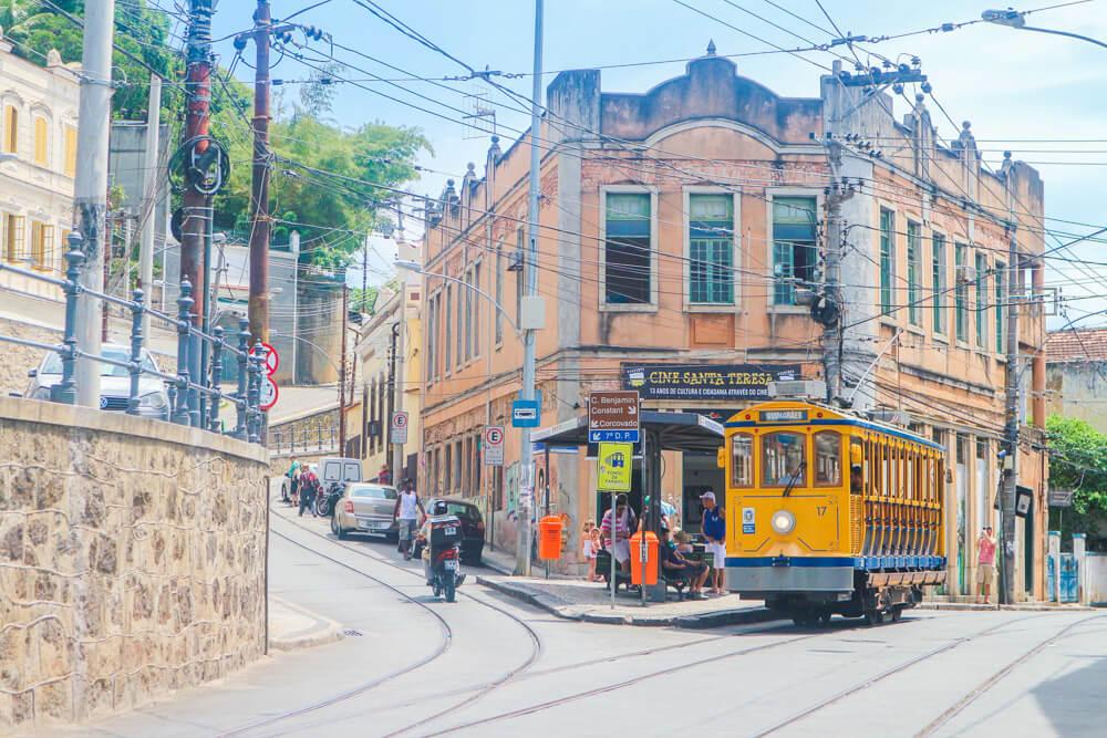 Tram in Santa Teresa - a quaint neighbourhood in Rio rather than one of the hidden gems!
