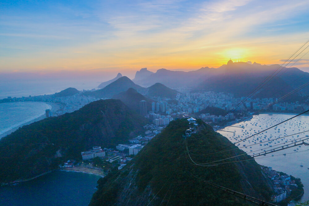 View of Rio at sunset from Sugarloaf Mountain. Definitely not one of Rio's hidden gems, but still a top spot!