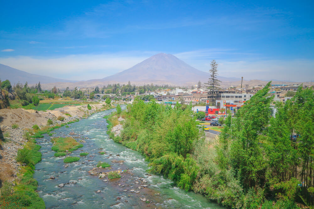 Misti Volcano seen from Arequipa - fifth stop on your 14 day Peru itinerary