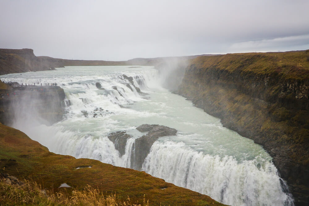 Gulfoss waterfall, one of the most powerful waterfalls in Europe a must see South Iceland attraction