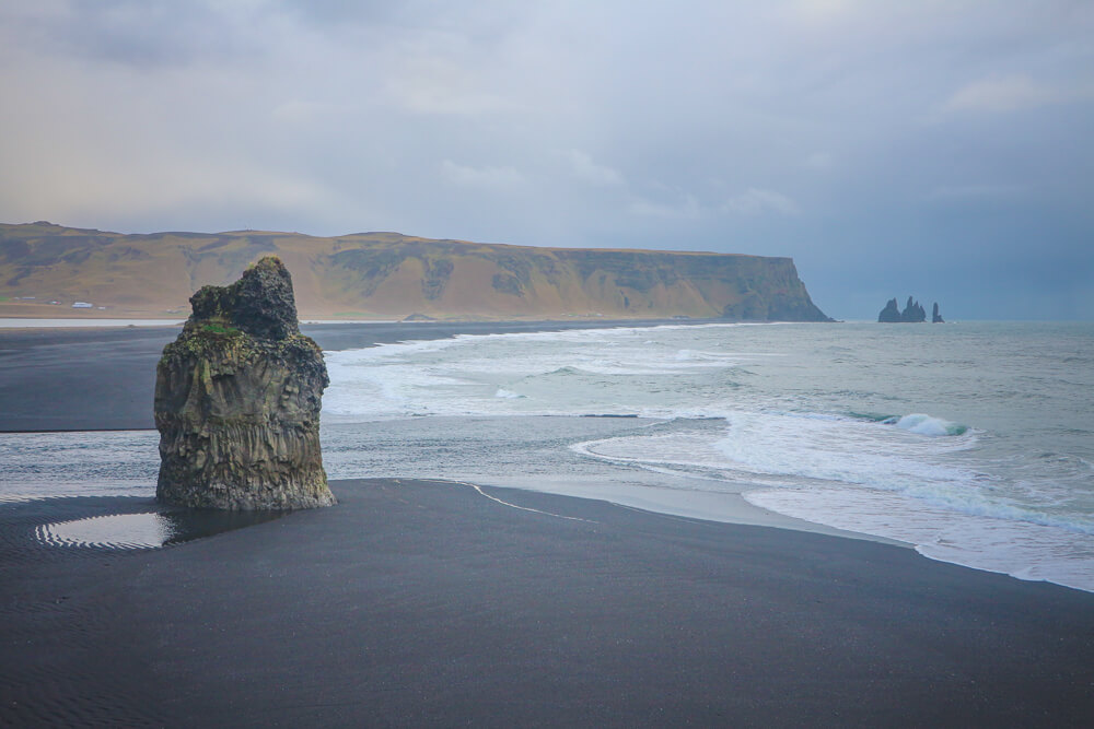 The black sand beach of Vik, a must see South Iceland