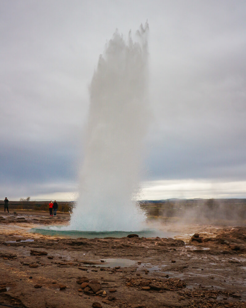 The powerful geysir a must see South Iceland sight