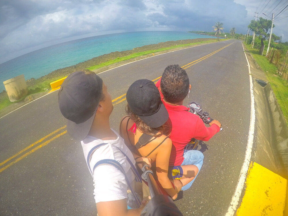 Motorbike ride around San Andres Colombia island