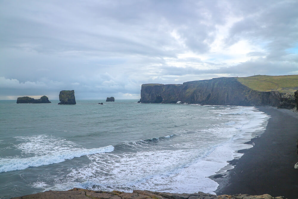 Vik black sand beach money saving tips Iceland