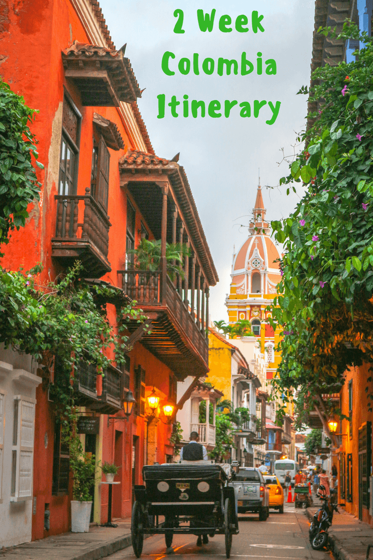 Colombia Itinerary Pin