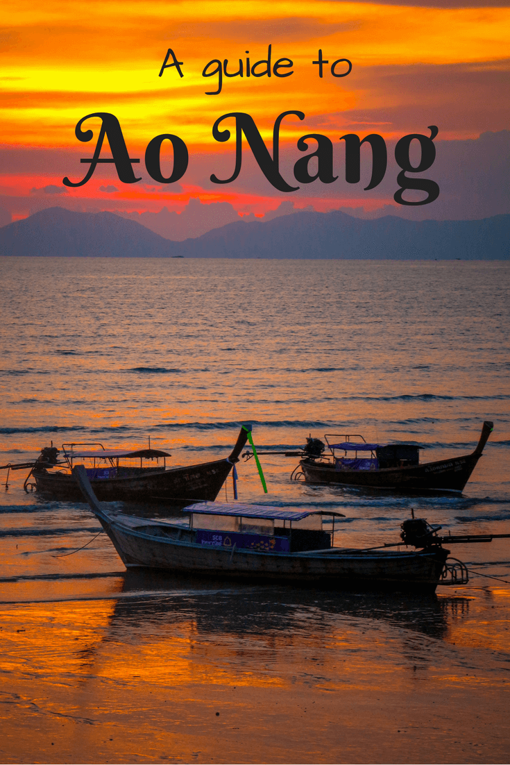 Ao Nang, located in the region of Krabi, Thailand, is one of the best destinations for beach lovers. Close to the famous Railay beach as well as a number of islands with beautiful white sand beaches and blue water. Whether you're backpacking or taking a short holiday, there are sunsets in the bays, good food and boats for trips to take in this area. This travel guide features tips for first time visitors, restaurants and hotel recommendations as well as things to do in Ao Nang! #thailand #krabi