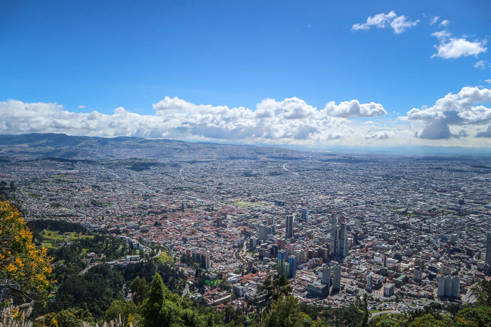 View from Monserrate in Bogota a must do in any Colombia Itinerary