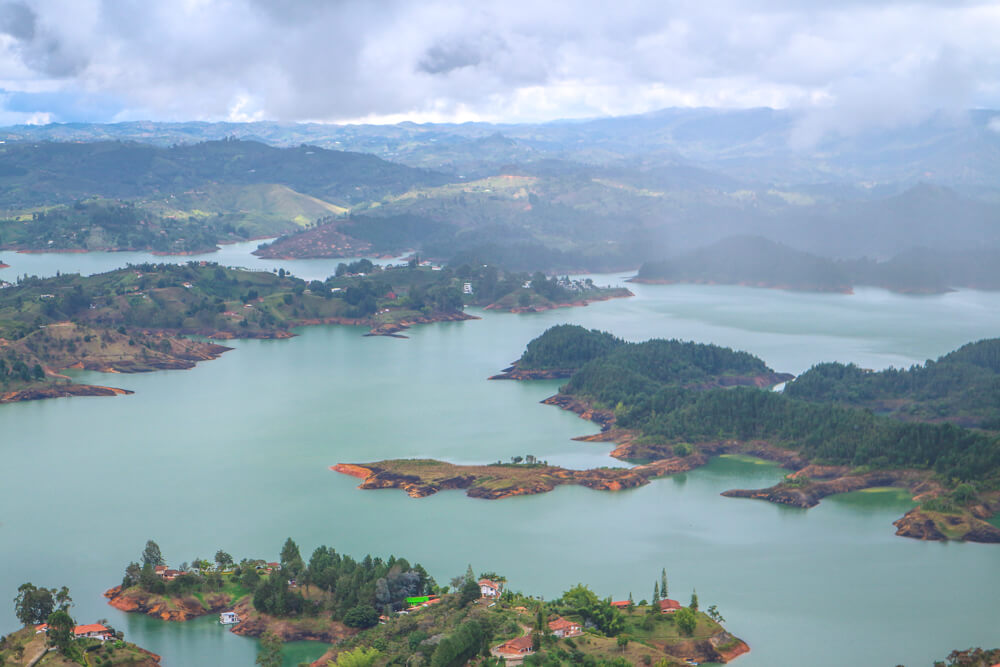 View from the top of El Penol, a highlight of our Colombia Itinerary