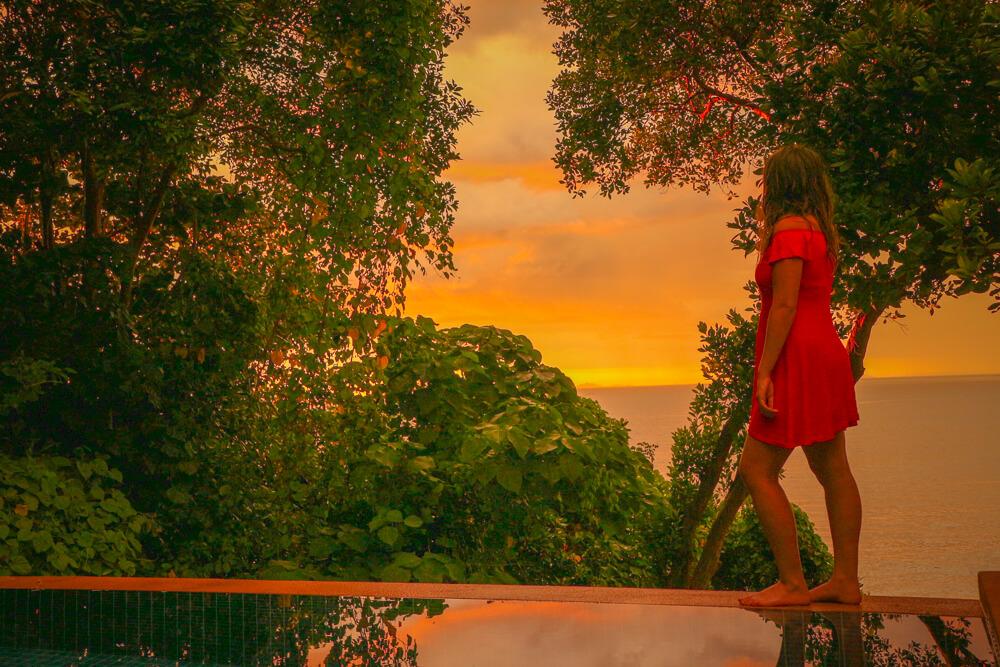 Sunset in Koh Lanta at the Crown private pool villa