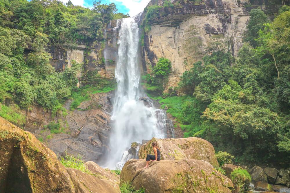 Ramboda falls, tips for travelling Sri Lanka