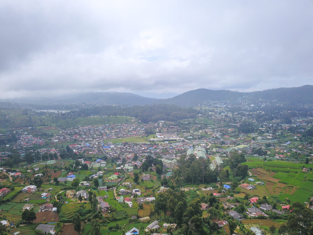 View of Nuwara Eliya from Lovers Leap waterfall - Nuwara Eliya guide