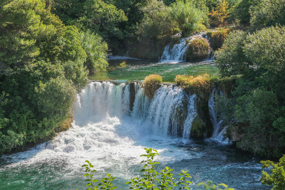 One of the waterfalls located in Krka national park, krka guide