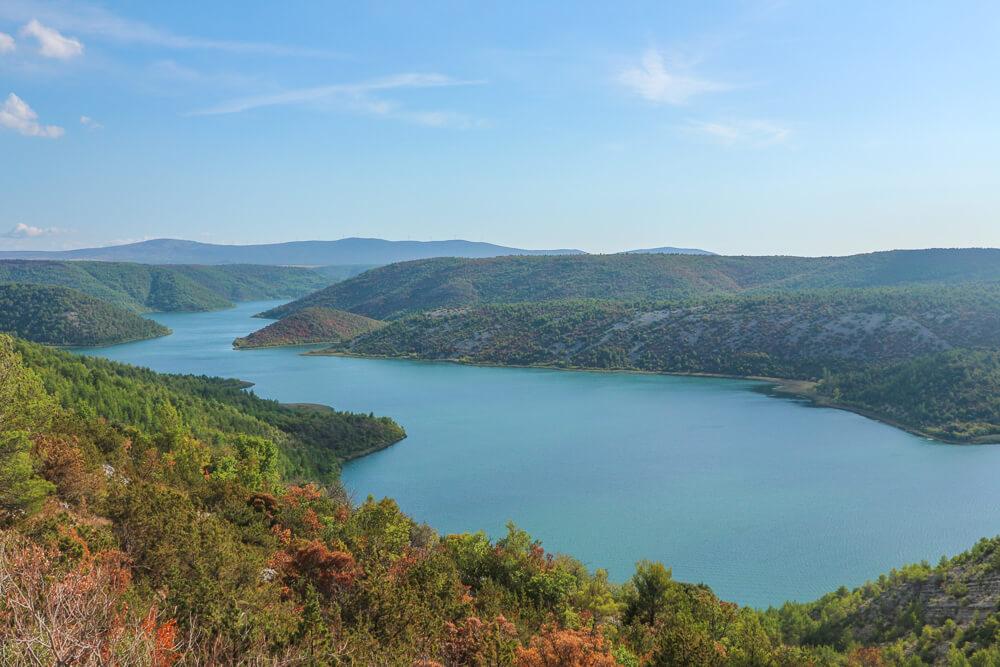 View of the lake at Krka guide