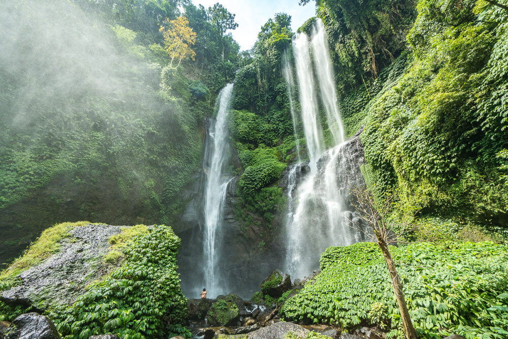 Sekumpul waterfall, recommended to visit as part of this Lovina guide