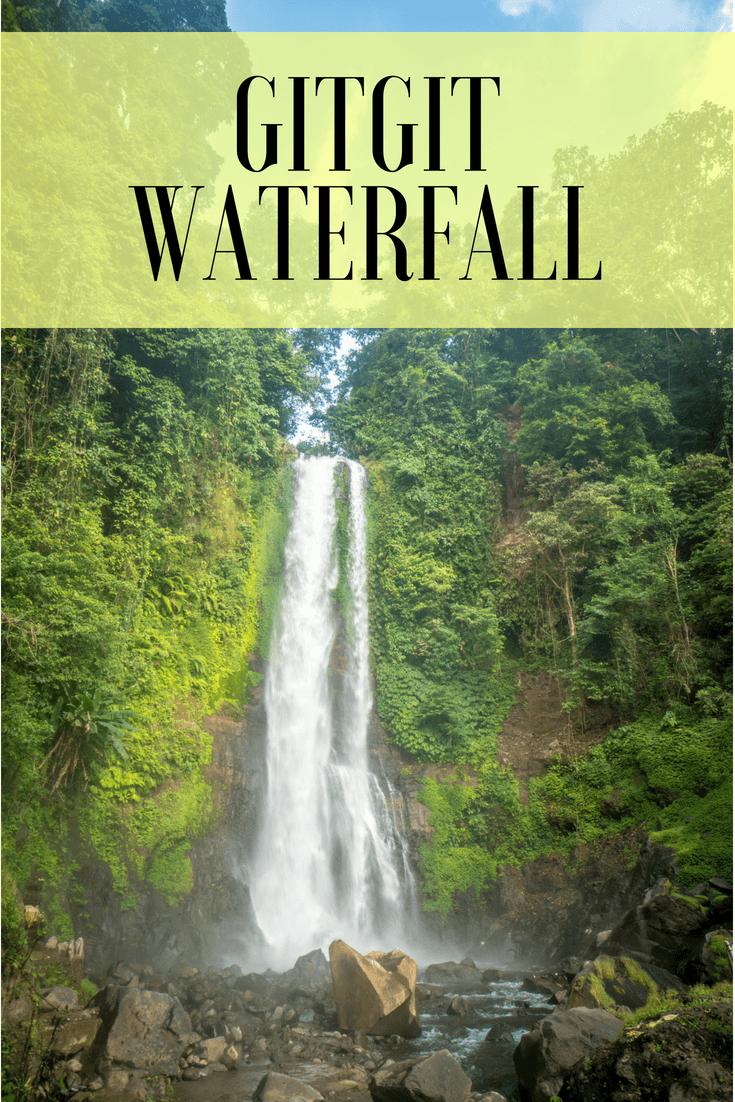 Gitgit waterfall pin