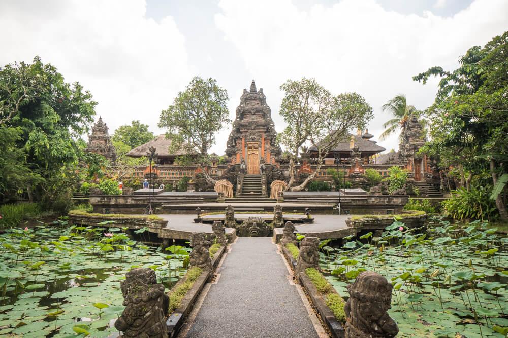 Pura Taman Saraswati temple in Ubud - 2 week Bali itinerary