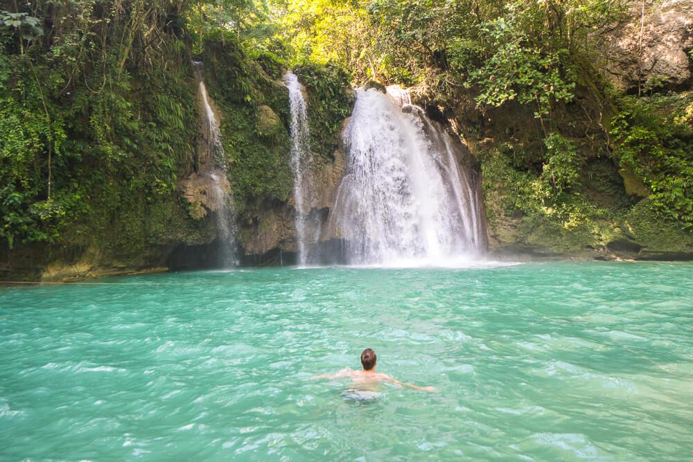 The famous Kawasan falls