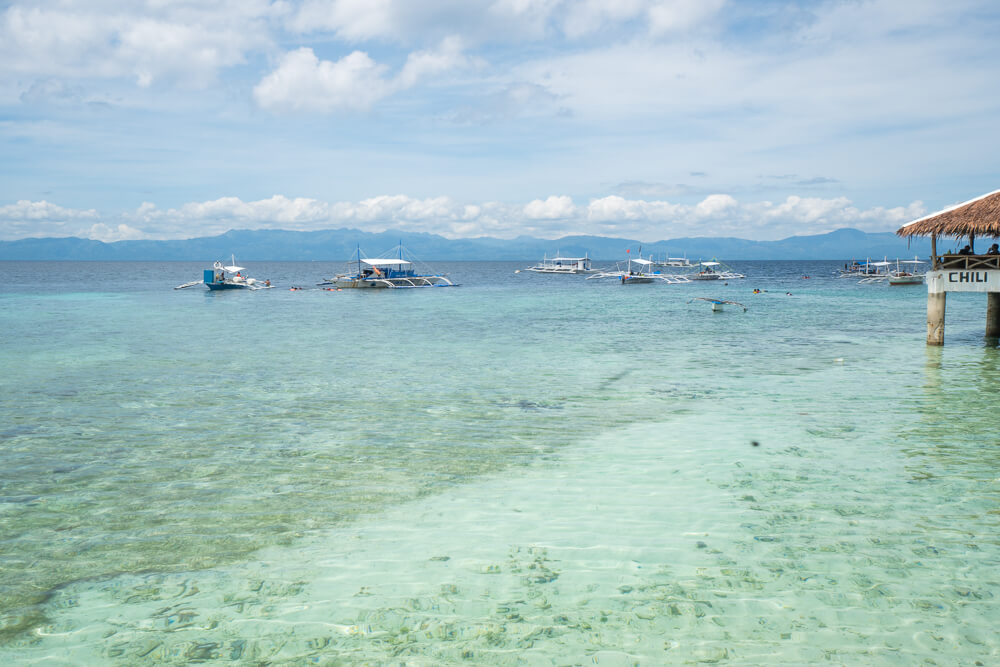 Clear sea in Moalboal