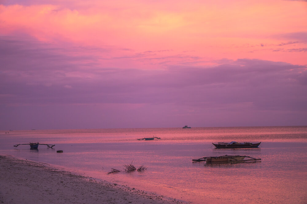 Sunset in Siquijor, what to pack for the Philippines