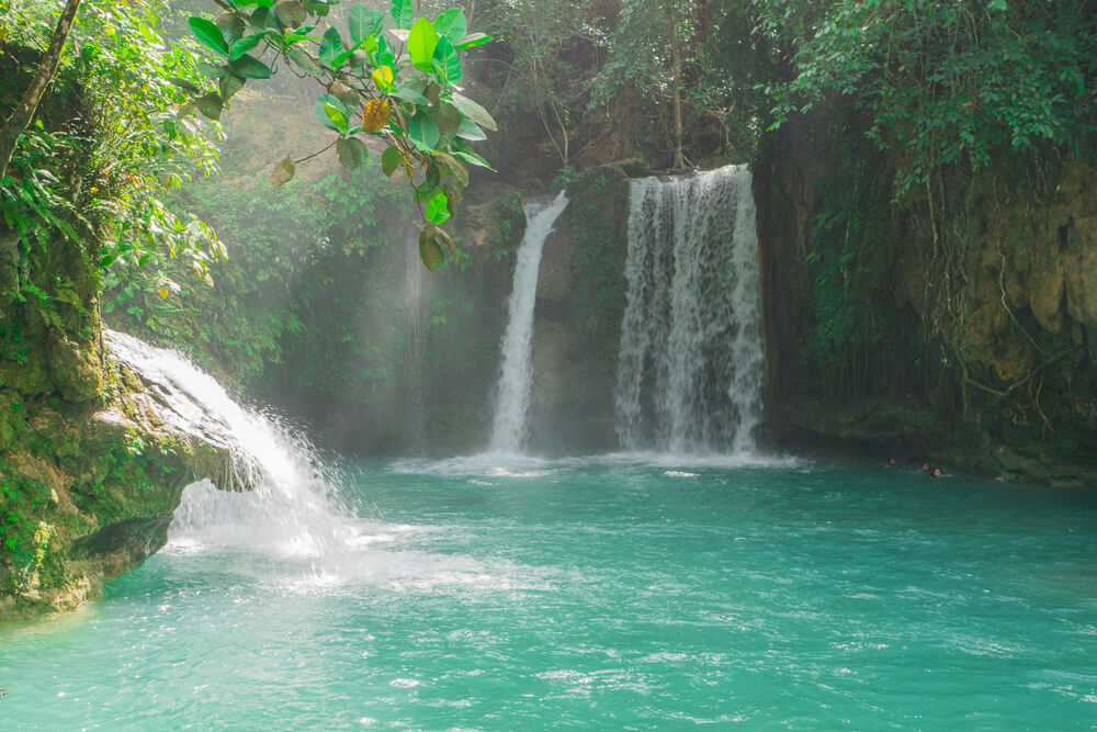 More waterfalls at Kawasan falls Cebu, Philippines