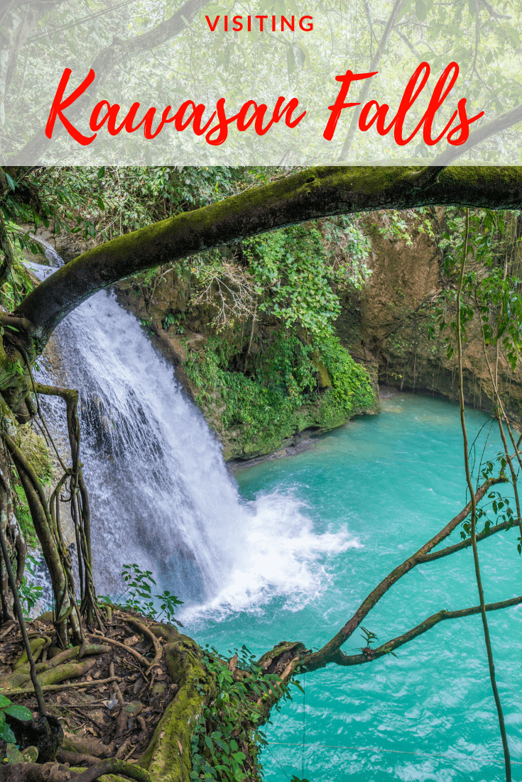 Kawasan falls, Cebu, is one of the best adventure travel destinations in the Philippines, thanks to fun canyoneering tours! The awesome nature of the falls makes it one of the most beautiful places in the country, and mean its on most people's bucket lists when planning a Philippines itinerary. The stunning turquoise water makes it an awesome paradise, and one of the best things to do in Cebu. Find out everything you need to know about visiting Kawasan falls with this guide #philippines