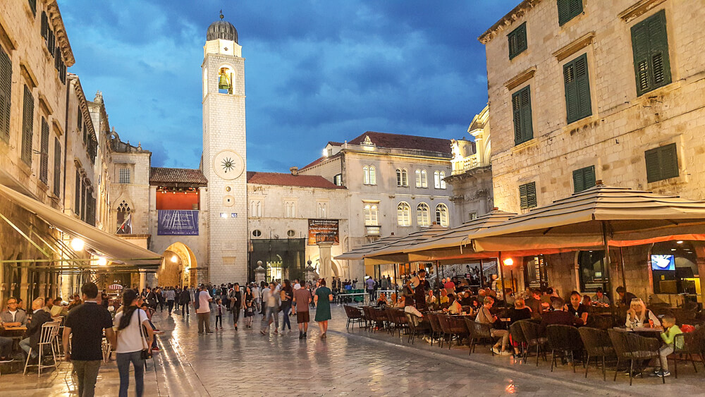 Dubrovnik Old Town at night - 10 days Croatia itinerary