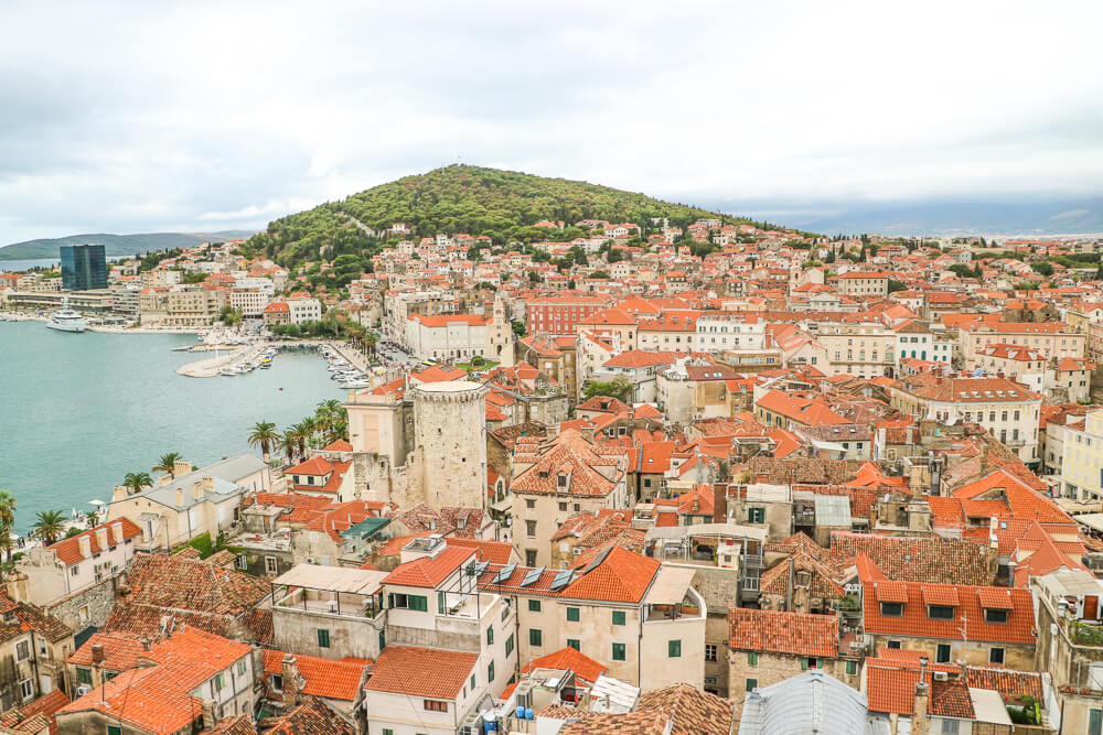Orange rooftops in Split - 10 days Croatia itinerary
