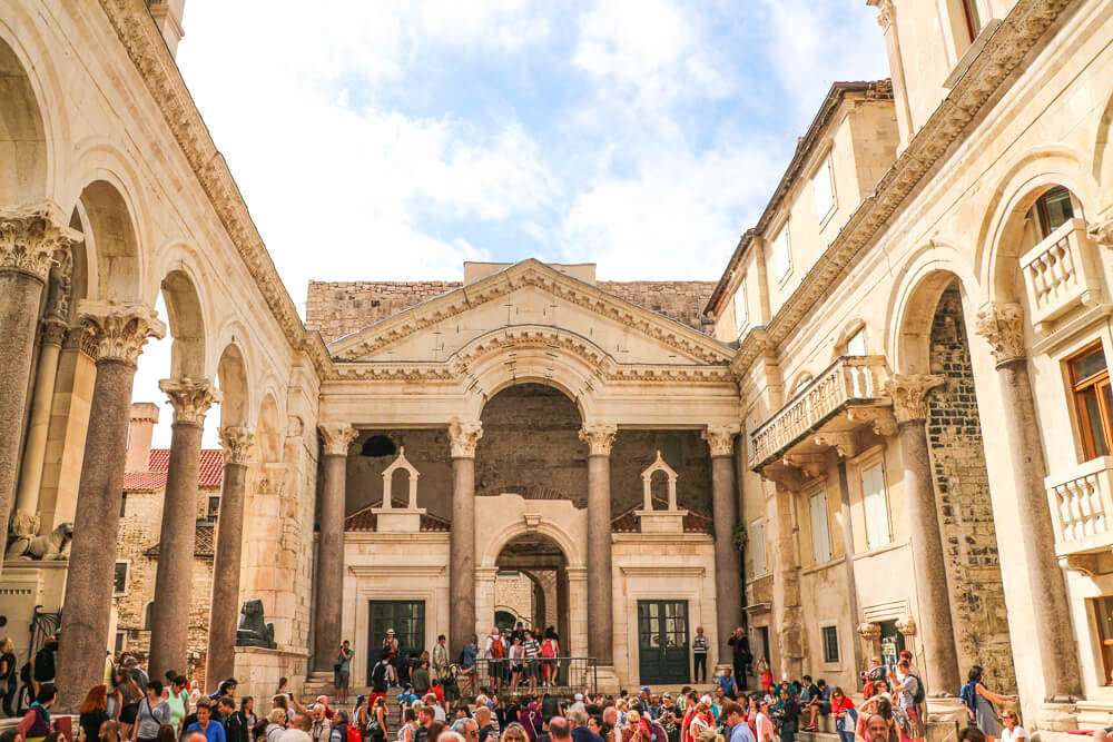 Peristil Square in Split Old Town - 10 days Croatia itinerary