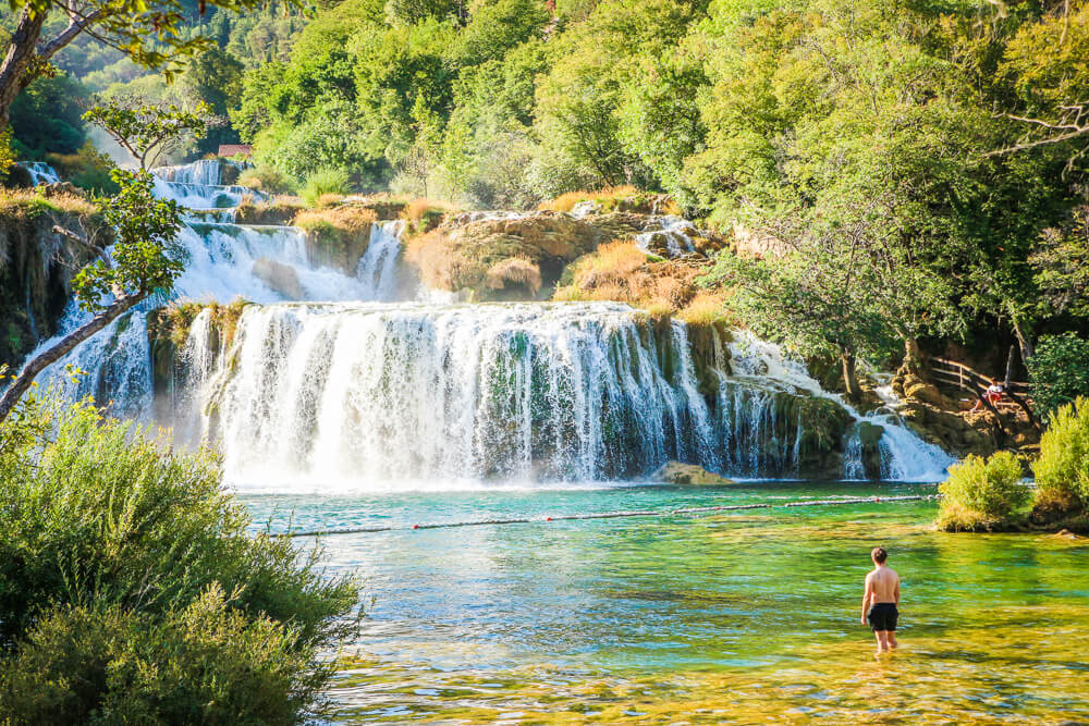 Skradinski buk in Krka National Park - 10 days Croatia itinerary