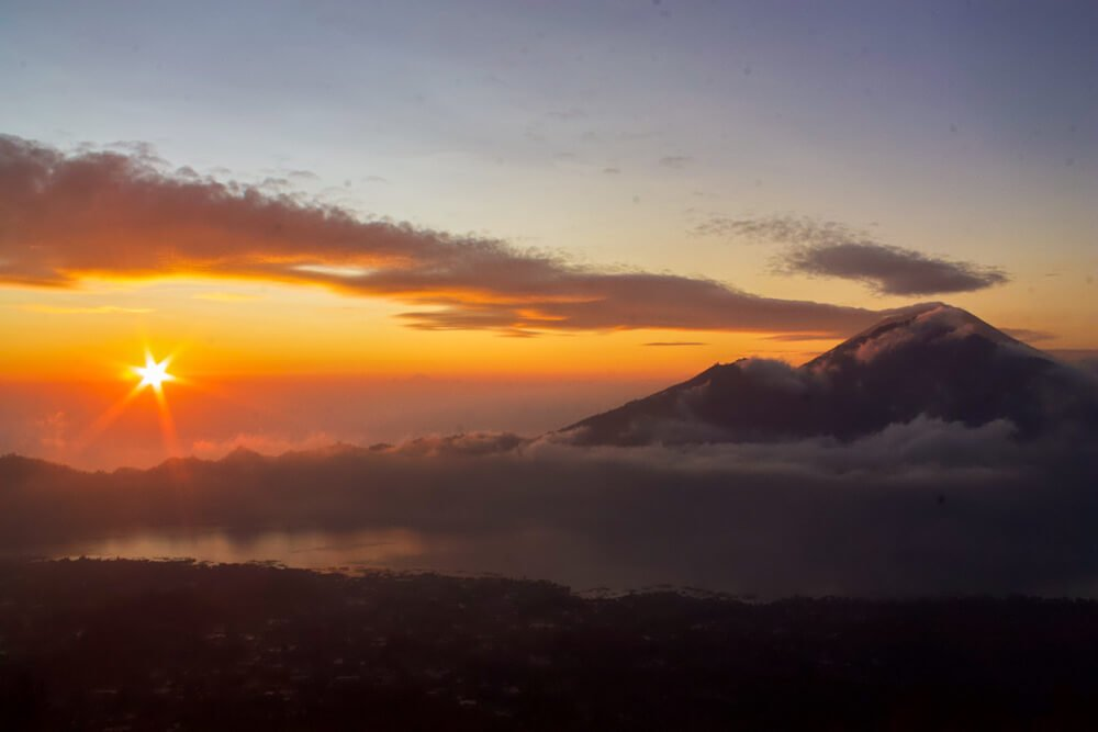 Sunrise at Mount Batur a must do in a 2 week Bali itinerary