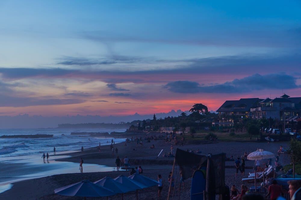 Sunset at Canggu beach - Tips for travelling to Bali